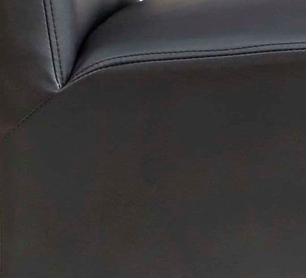 Pair of Leather Dining Chairs   Pair of leather dining chairs with solid wood frame.